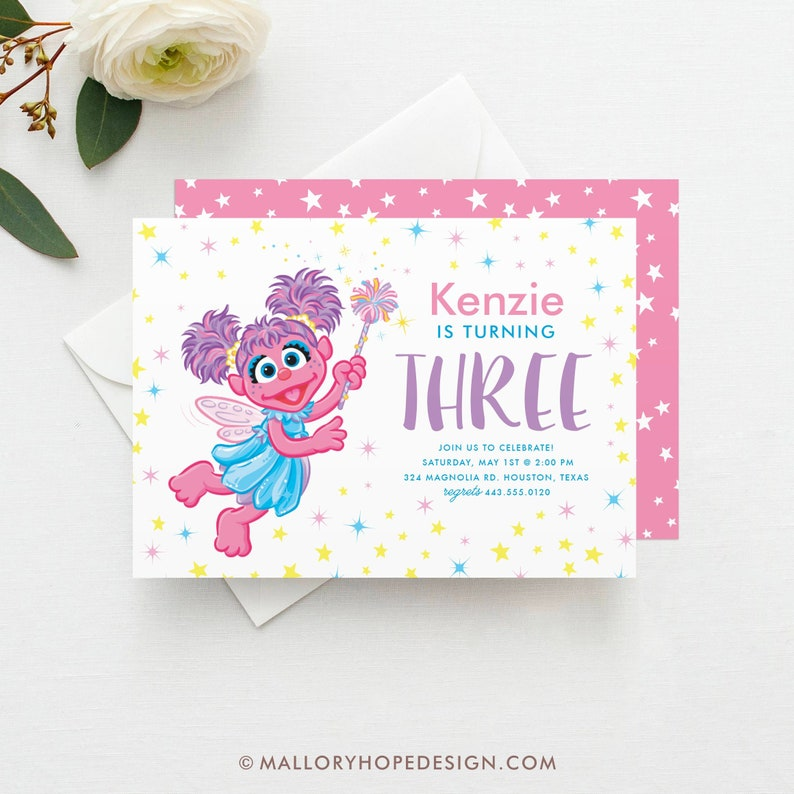 Abby Cadabby Birthday Invitation Template Abby Birthday Etsy