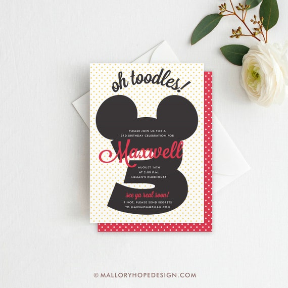 mickey mouse clubhouse invitations template