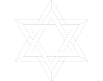 Sacred Magen David-Healing Faith Energy Frequencies-Coloring Page-Overlapping interlinked-Blank- Symbol Print-Jewish Art-INSTANT DOWNLOAD