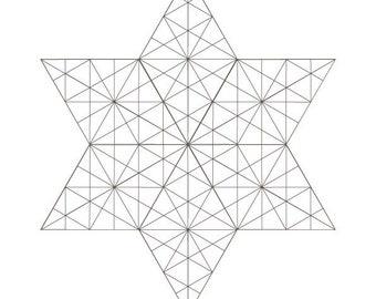 1 Crystalized Star of David-Coloring Page-2021 COLLECTION-Jewish Art-Printable PDF-Divine Holiness-Sacred Holy Symbols-Magen David-HALELUYA