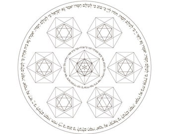 Happy Passover Seder Plate Coloring Page-Matzah Blessing-Haggadah Prayer-Pesach Plates-Sacred Geometry-Jewish Art-Judaica-INSTANT DOWNLOAD