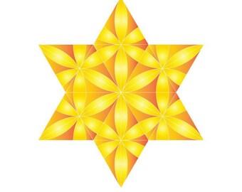 3d paper craft green star of david hanukkah etsy