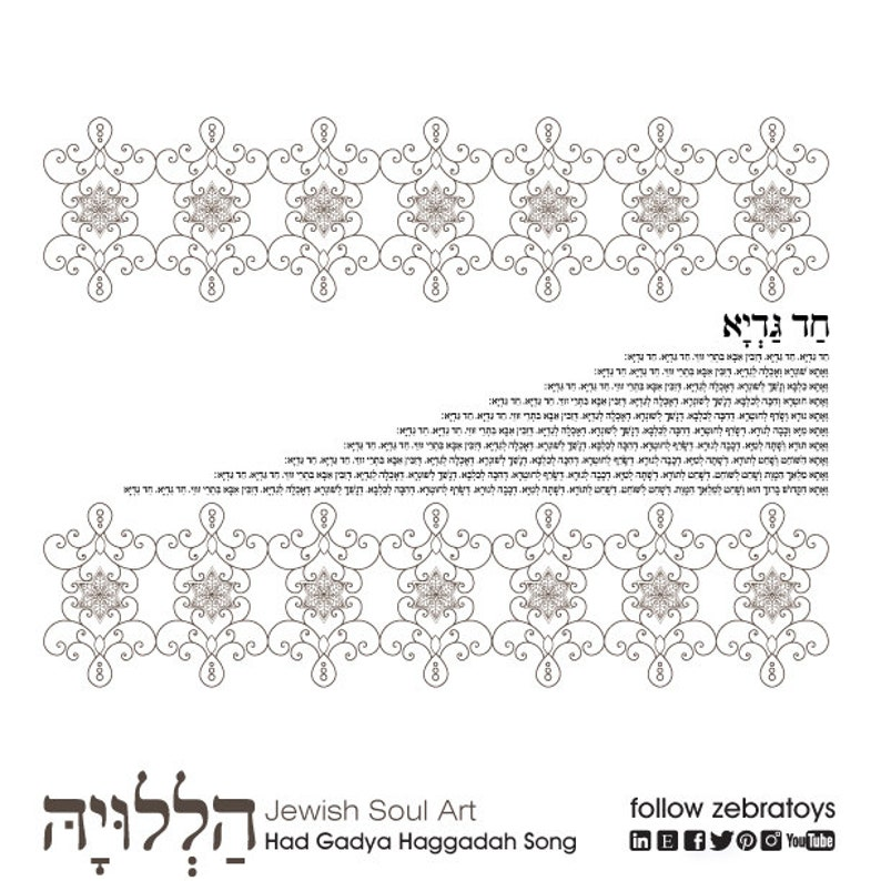 picture about Printable Haggadahs identified as Experienced Gadya Haggadah Music-1 Pover Printable Site-Jewish Holiday vacation Hebrew Coloring Print-Seder Pesach Craft-Prompt Obtain through @zebratoys