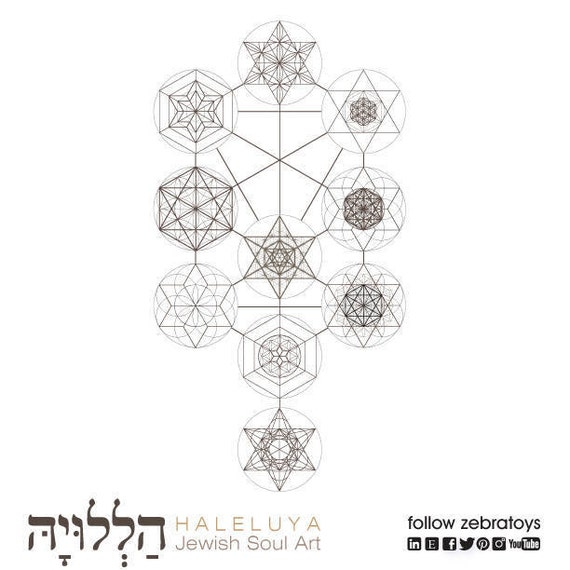 The Ten Sefirot The Tree Of Life Kabbalah Elements With Sacred Etsy Kabbalah tree of life is a piece of digital artwork by zapista ou which was uploaded on november 21st, 2019. the ten sefirot the tree of life kabbalah elements with sacred geometry symbols jewish art printable design instant download by haleluya