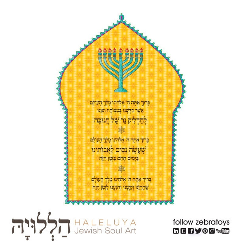 image about Hanukkah Prayer Printable known as Chanukah Menorah Candles Blessing Printable-Hanukkah Prayers-Hanukiah blessing-Hanukkiyah Arts-Lights Chanukkah Candles-Quick Obtain
