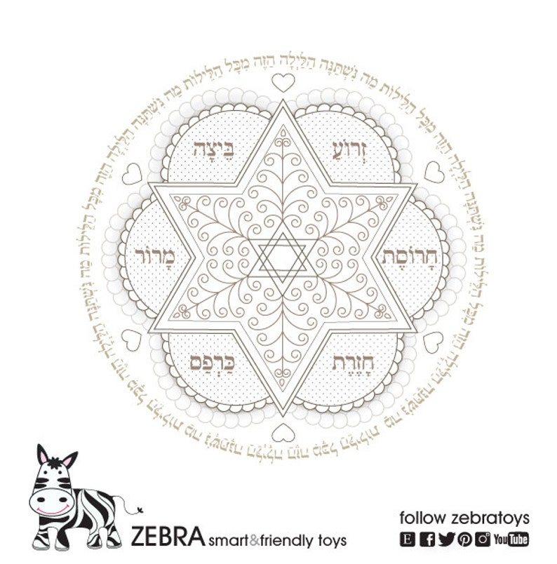 graphic about Printable Seder Plate identify Pover Coloring E-book-5 Models-Seder Plate-Greeting Playing cards Printables-Do it yourself Sbooking-Jewish Mandala Print-Fast Obtain through @zebratoys