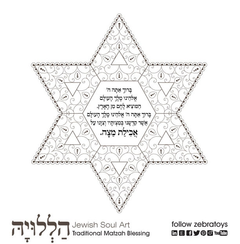 graphic about Printable Haggadahs titled Haggadah Matzah Blessing-Pover Coloring Site-1 Printable Structure-Jewish Crafts Components-Aancient Sacred Artwork-Immediate Obtain as a result of @zebratoys