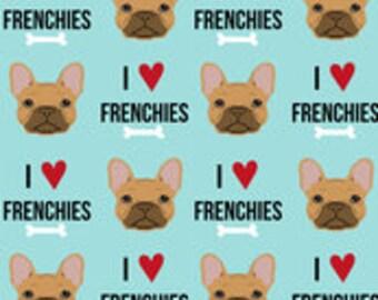 daac7a20ef3ef I Love Fawn Frenchies on Blue - Handmade Scrub Hats