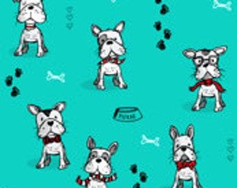 ca4e5468ffb65 Parisian Pups on Aqua - Handmade Scrub Hats