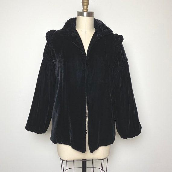 Vintage 1930s Velvet Jacket 30s Formal Opera Eveni