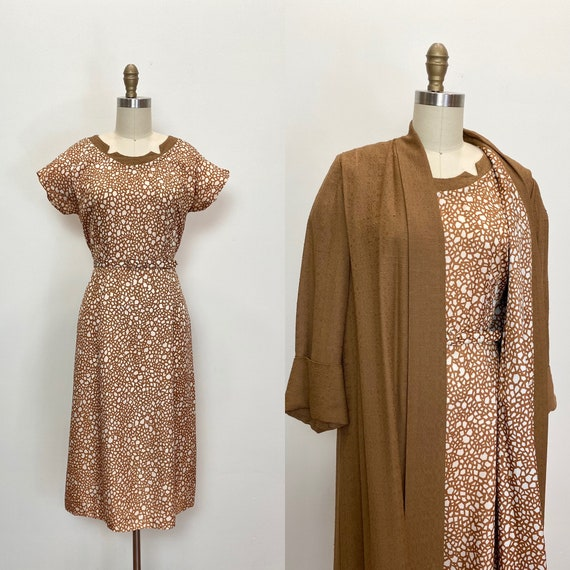 Vintage 1950s Dress and Coat Set