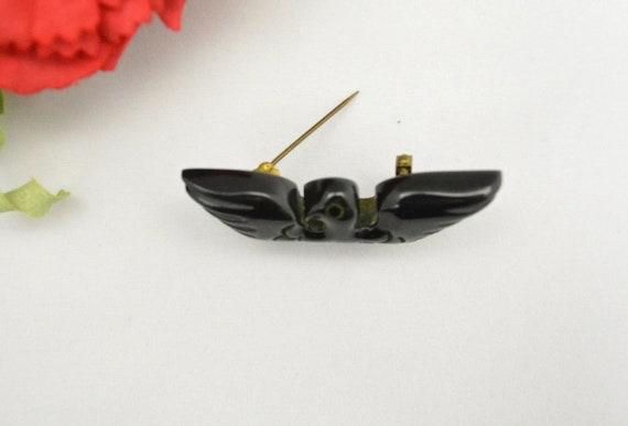 Vintage 1940s Bakelite Brooch 40s Eagle Pin WWII … - image 4