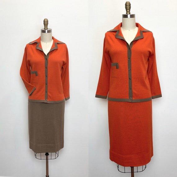 Vintage 1950s Suit 50s Italian Knit Skirts and Swe