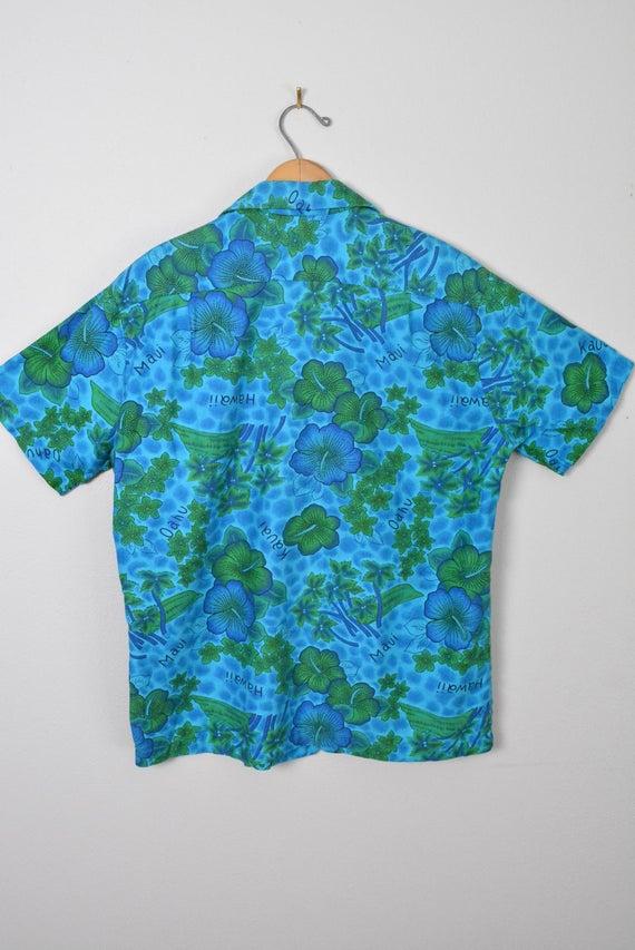Vintage 1950s 1960s Hawaiian Shirt Cotton Tiki So… - image 5