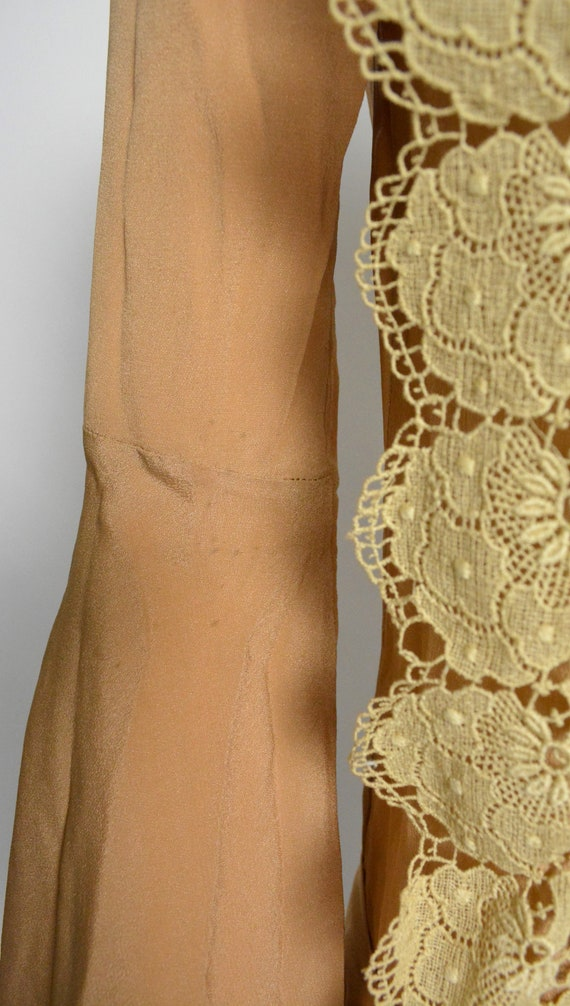 1920s Dress 20s Silk Day Dress with Scalloped Lace - image 8