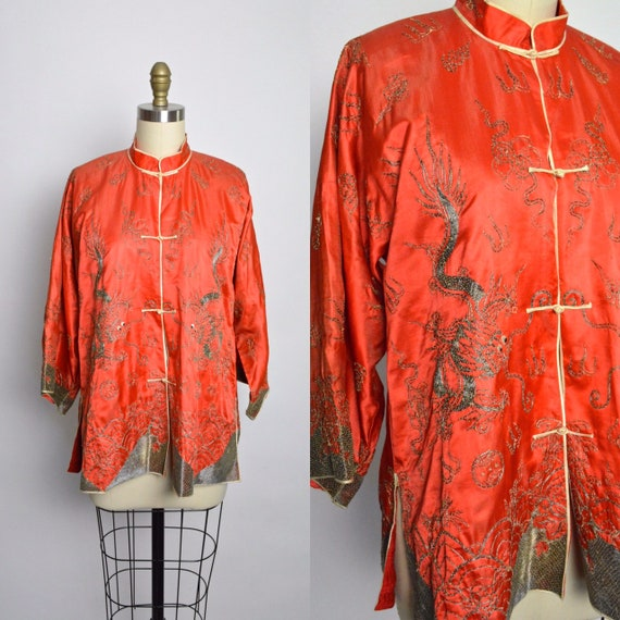 1920s 1930s Chinese Jacket Blouse 30s 20s Embroide