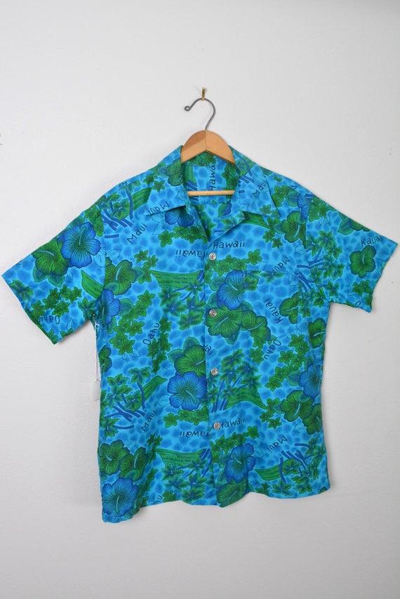 Vintage 1950s 1960s Hawaiian Shirt Cotton Tiki So… - image 4