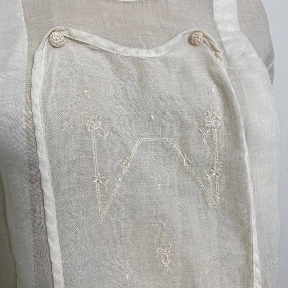 Antique Cotton Blouse 1910s Sheer White - image 4