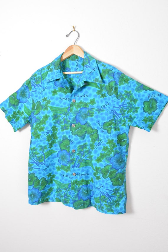Vintage 1950s 1960s Hawaiian Shirt Cotton Tiki So… - image 2