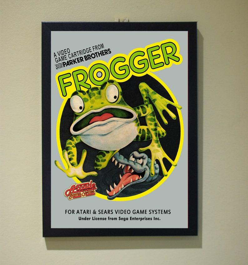 Parker Brothers Atari Frogger A4 Poster Print