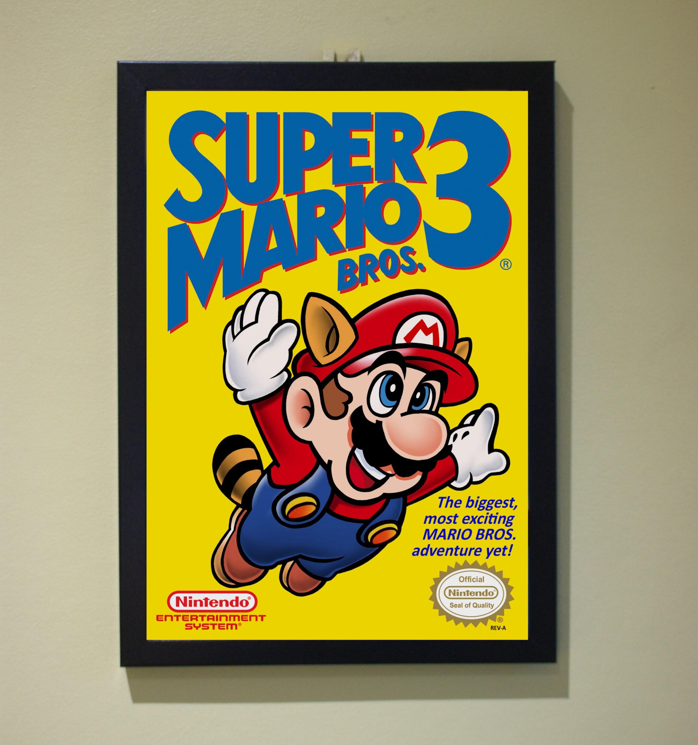 Super Mario 3 Poster Print NES Nintendo A4 A3 A2 Retro