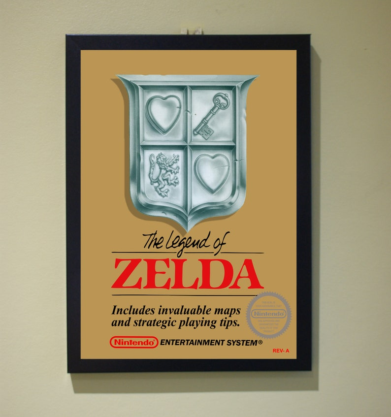 Legend Of Zelda Poster Print NES Nintendo A4 A3 Retro
