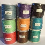 Waxed Cotton Cord 1mm (34 colors!) New colors added!