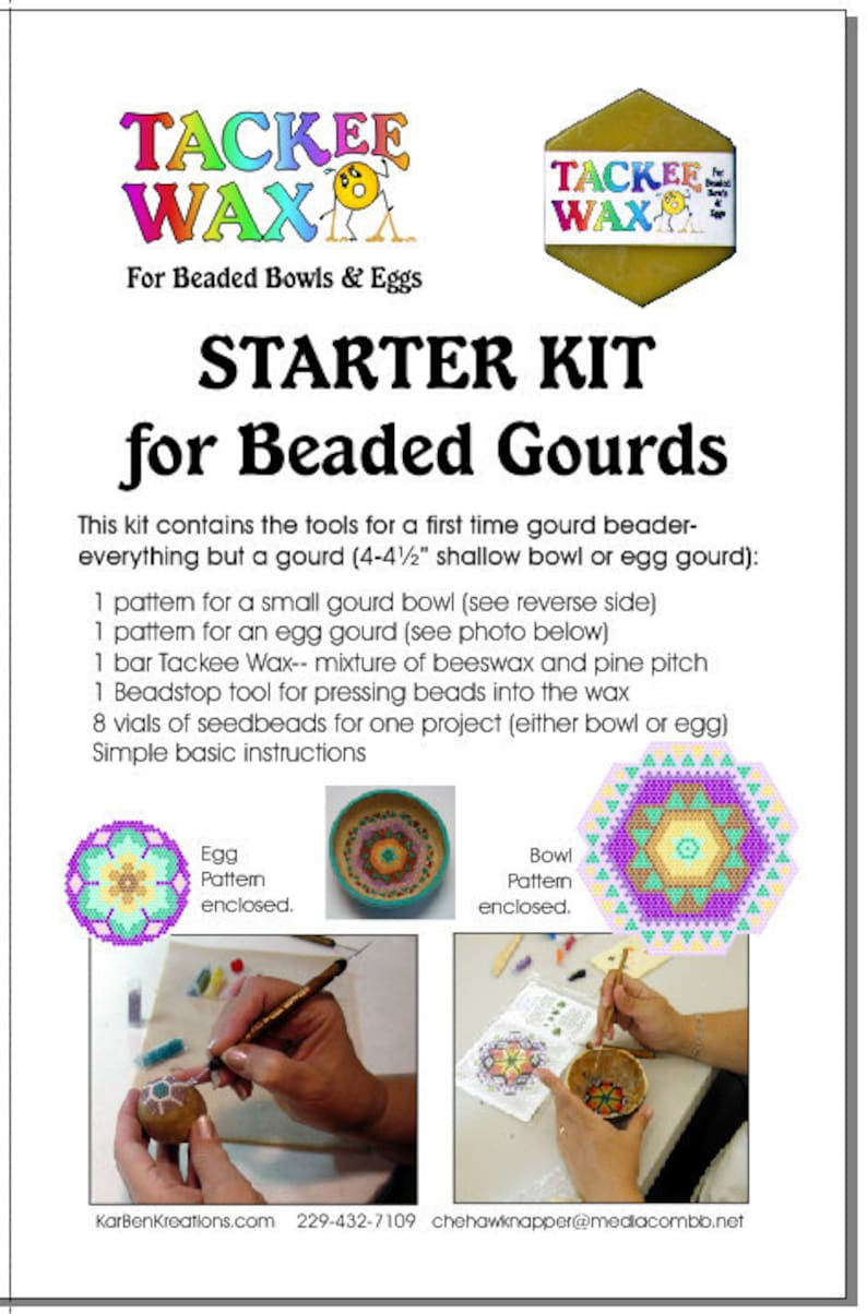 Starter Kit Set BFor Beaded Gourds Bowls or Eggs image 0
