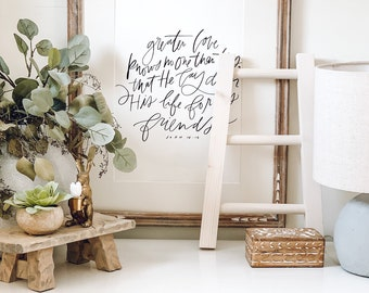 Simply White Rustic Mini Tea Towel Ladder, dish towel ladder, wooden