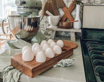 Acacia wood egg tray | Wooden Egg holder