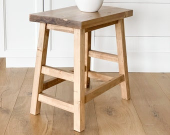 Wooden Side Table, Rustic End Table