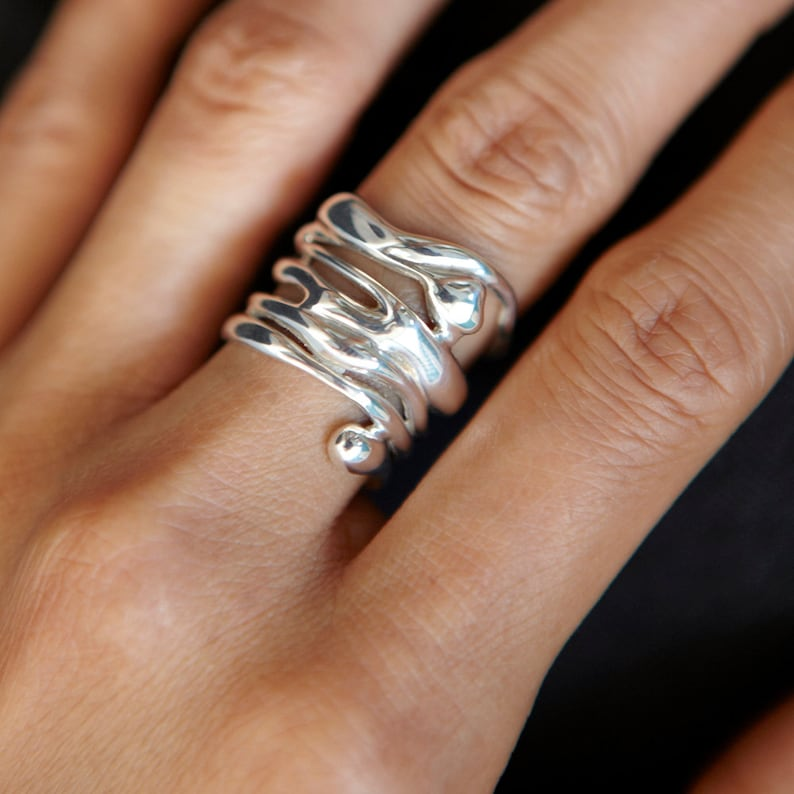 925 Sterling SilverHandmade Designer Ring For Women Unique image 0