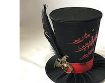 Tiny Top Hat: Dragon Tamer - Lolita Cosplay Costume Party Fascinator fast shipping Prop Wedding Small Mini top hat Miniature little