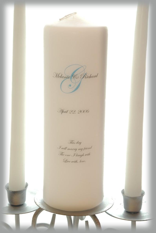 Personalized Unity Candle with Monogram wedding candles image 1