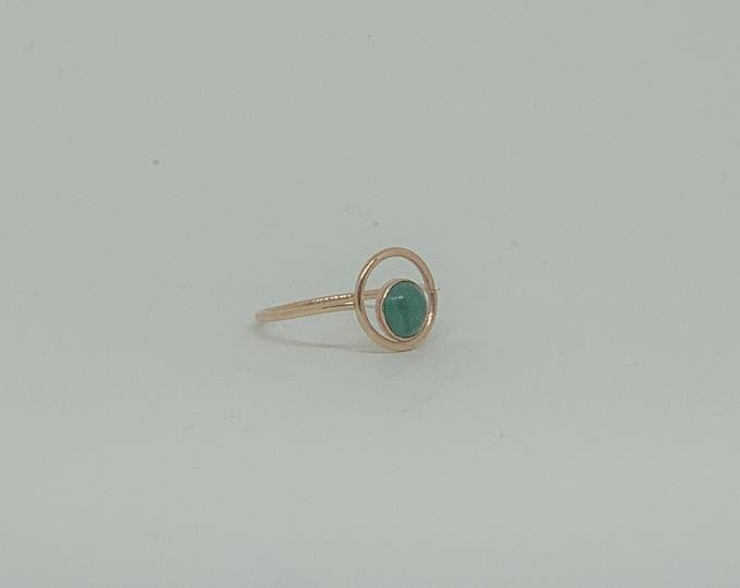 Featured listing image: Malachite Orbit Ring