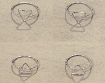 As Above So Below Rings - Sterling Silver