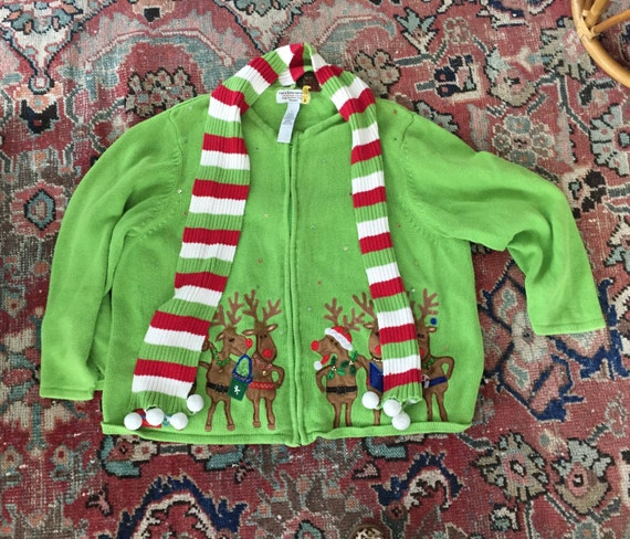 Vintage Ugly Christmas Sweater- Tacky Christmas Sw