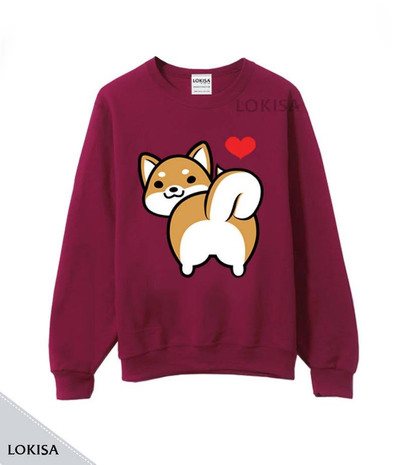 02df7e389 I Love Shiba Inu Butt Crewneck Sweater | Etsy