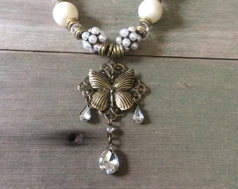 Royal Butterfly Necklace/Fancy/Edwardian/Victorian/Woodland