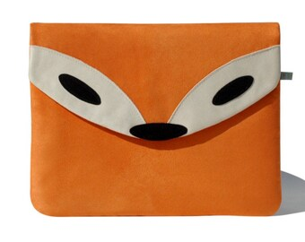 Fox Surface Pro Case, Fox Bag, Personalized Surface Go Sleeve, Surface Book Cover, Handmade Surface Case, Gift For Her, Birthday Gift Idea