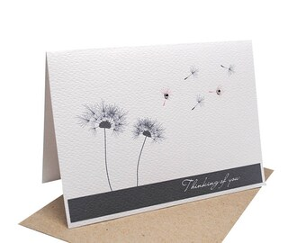 Sympathy Card | Thinking of You Card | Dandelions in the Wind | Condolence Card | Sorry for your Loss Card | Bereavement Card | WDS015