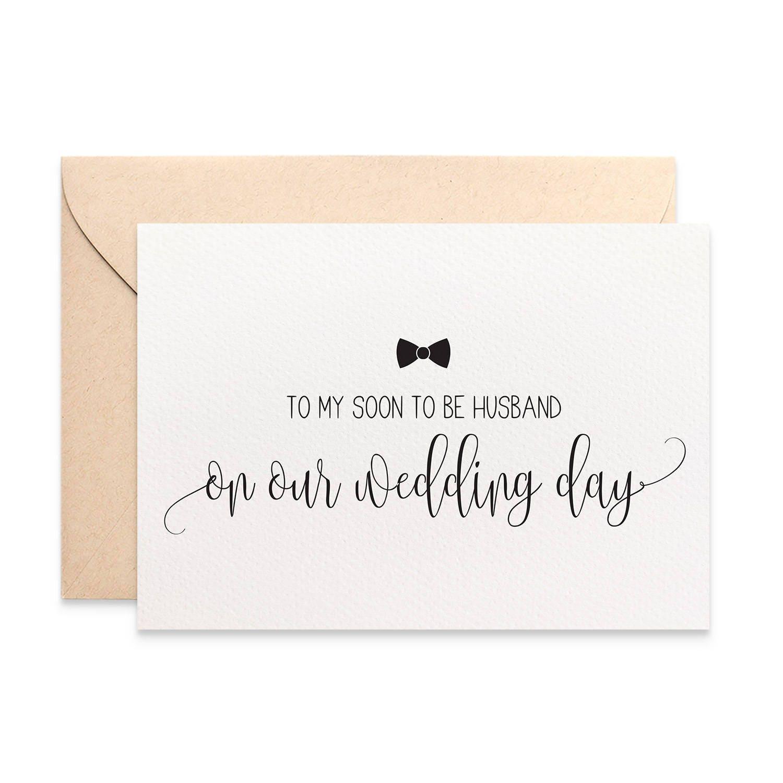 Wedding Day Gift To Husband: Husband Wedding Card Gift For Husband To My Husband On Our