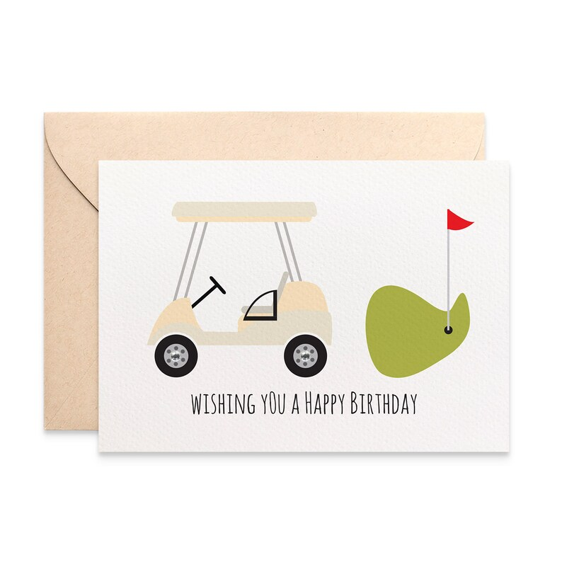 Birthday Card Male Golf Happy