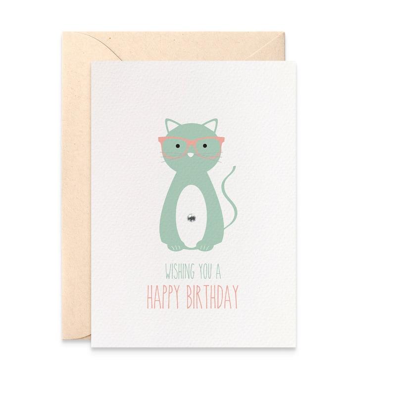 Cat Birthday Card Female Happy For