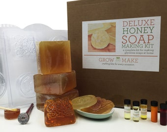 Deluxe DIY Honey Soap Making Kit - Learn how to make your own soap!