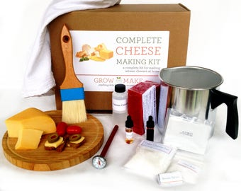Complete DIY Cheese Making Kit - Learn how to make Mozzarella, Ricotta, Colby, Gouda, and Monterey Jack!