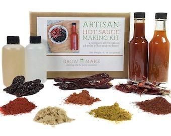 DIY Artisan Gourmet Hot Sauce Kit - Make 3 Unique & Spicy Sauces at home!