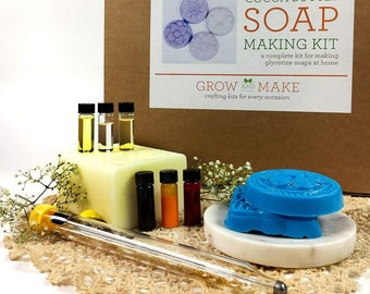 Deluxe DIY Cocoa Butter Soap Making Kit - Learn how to make your own soap!