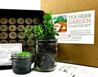 Tea Herb Garden DIY Kit - Learn how to grow tea herbs from home!