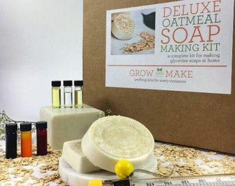 Deluxe DIY Oatmeal Soap Making Kit - Learn how to make home made soap!